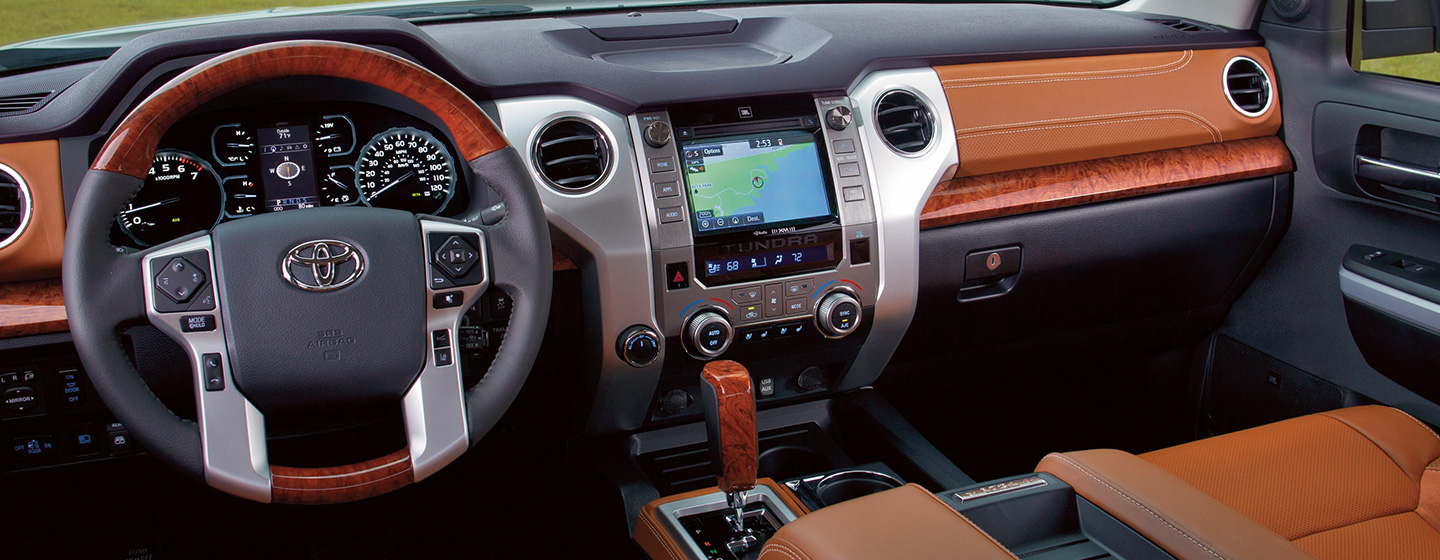 Safety features and interior of the 2019 Toyota Tundra for sale at our Toyota dealership Lake City FL