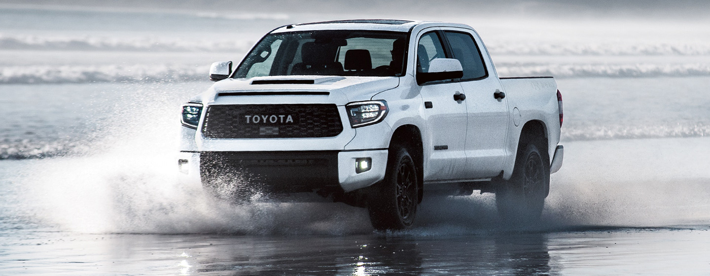 2019 Toyota Tundra Driving at The Beach