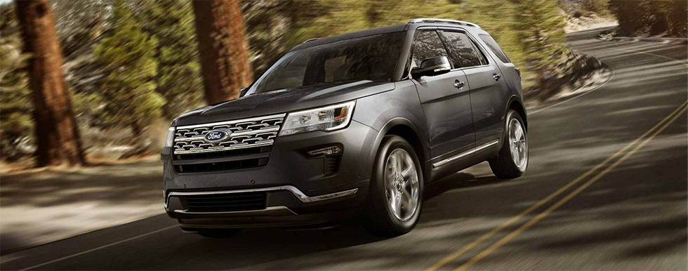Exterior of the 2018 Ford Explorer - available at our Ford dealership near Trinity, Lutz Florida