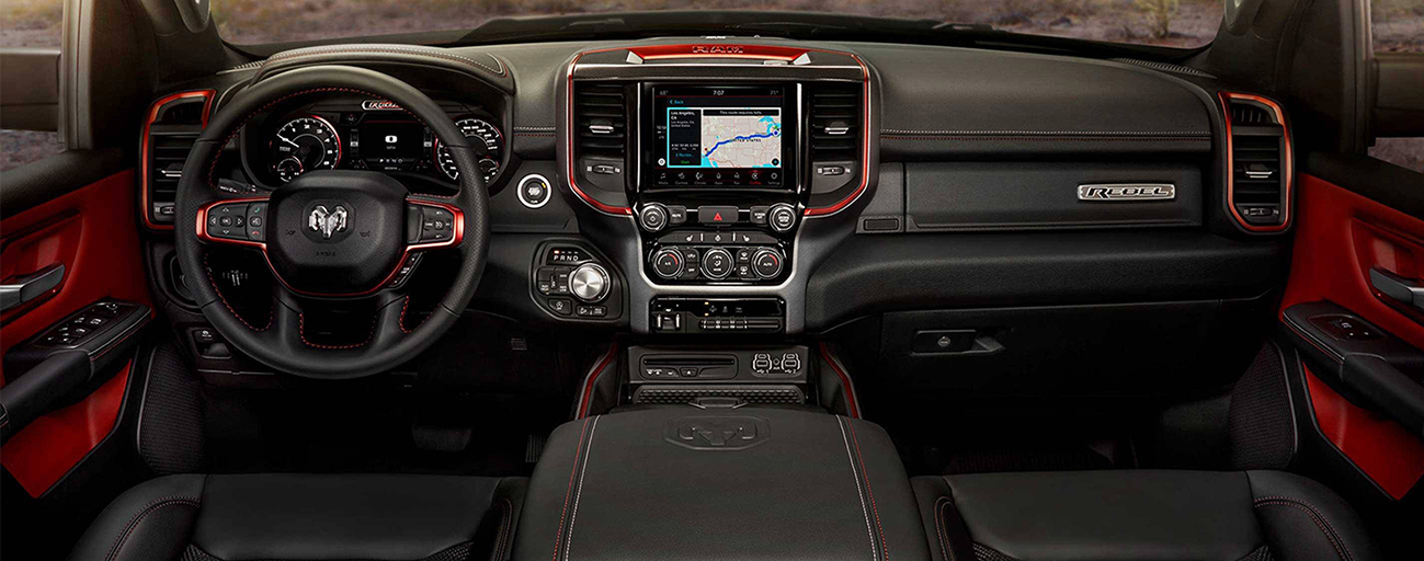 Safety features and interior of the 2019 RAM 1500 - available at our RAM dealership near Cape Coral, FL.