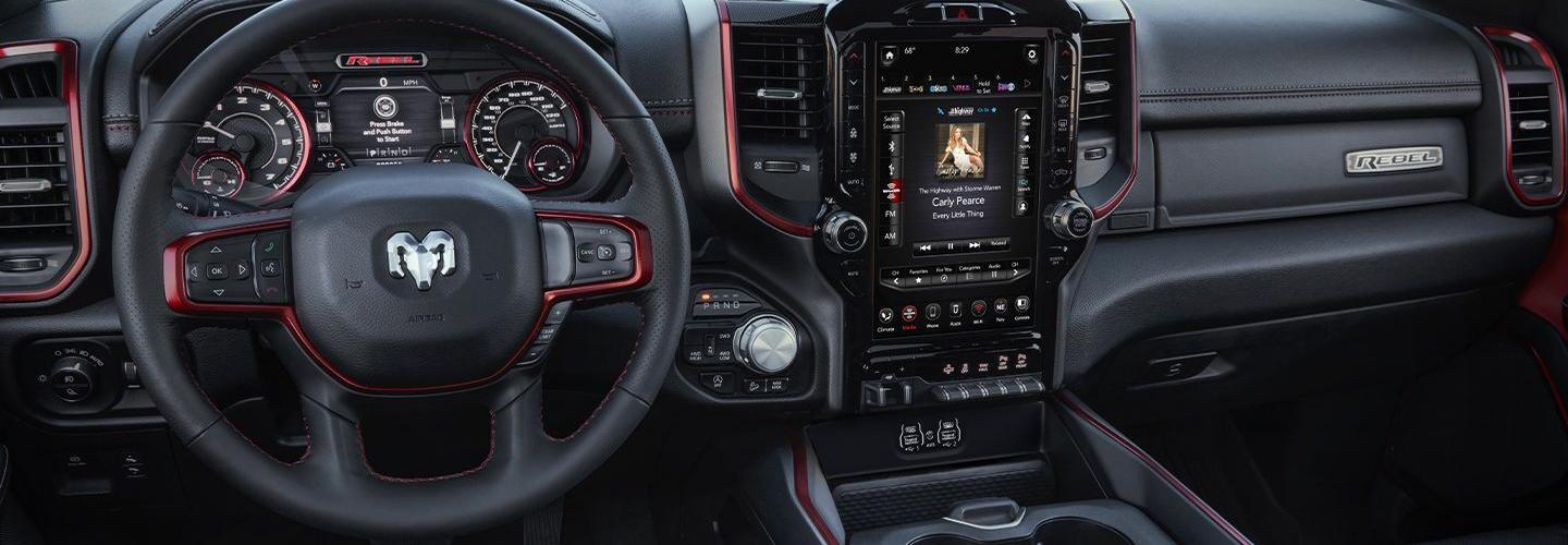 Steering wheel and passengers side seat of the 2020 RAM 1500