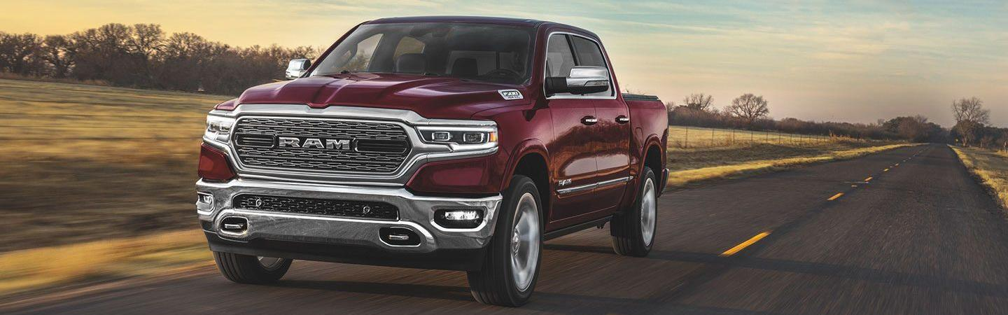 Front view of the 2020 RAM 1500 in motion