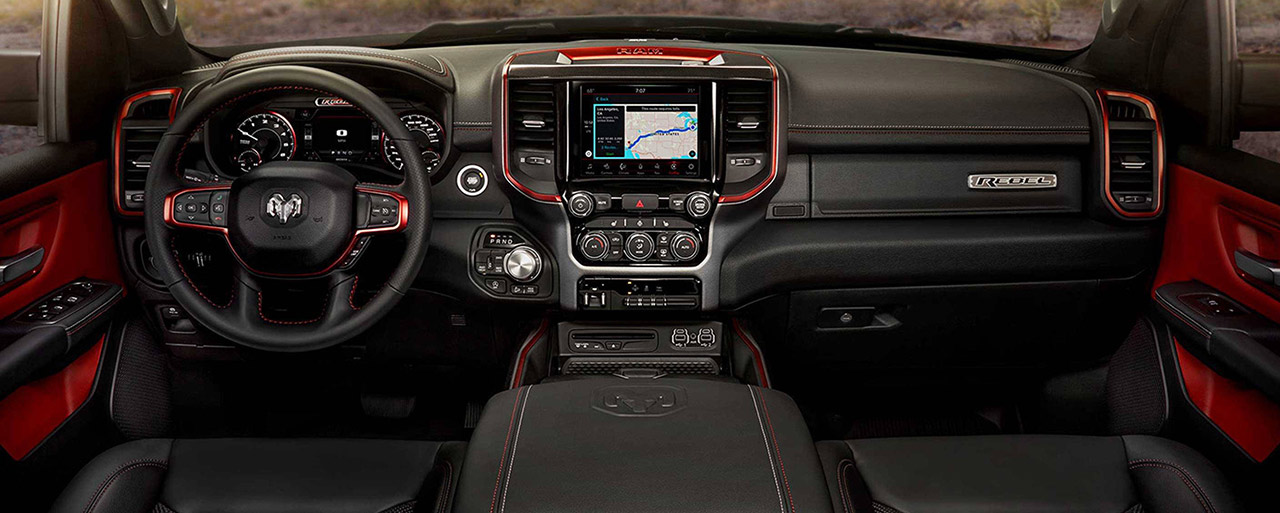 Safety features and interior of the 2019 RAM 1500 - available at our RAM dealership near Bonita Springs, FL.