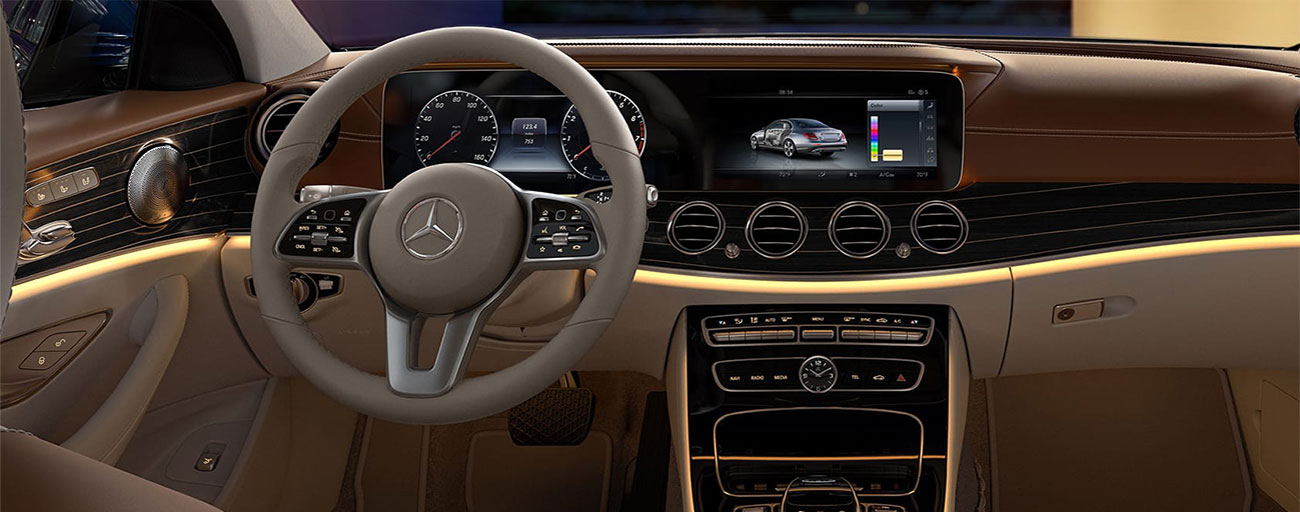 Safety features and interior of the 2019 Mercedes-Benz E-Class - available at our Mercedes-Benz dealership near Ocala, FL.