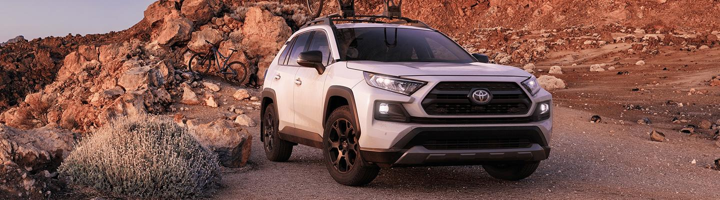 White 2020 Toyota RAV4 TRD Off-Road parked