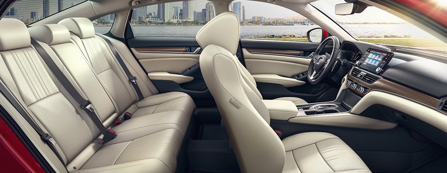 Safety features and interior of the 2019 Honda Accord - available at our Honda dealership in Miami, FL.