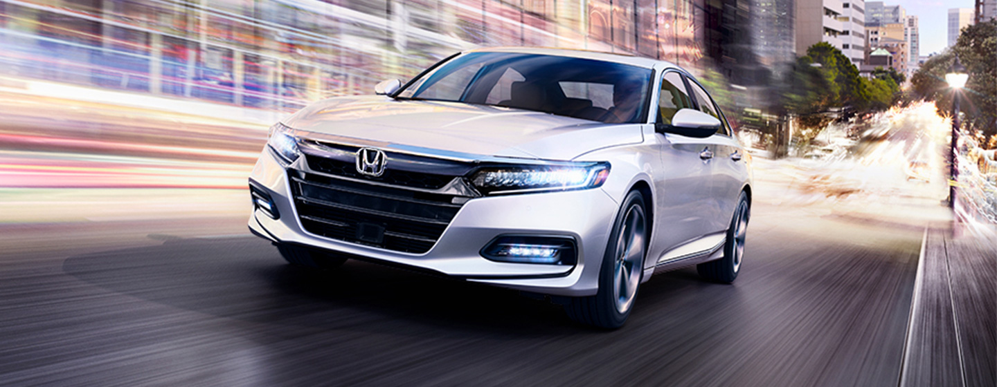 2019 Honda Accord Exterior - Front End View Driving on the Road.