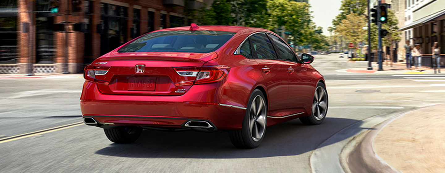 2019 Honda Accord Exterior - Rear End View Going around a corner.