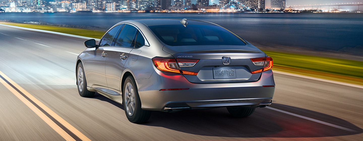 2019 Honda Accord Exterior - Rear End View driving on the Road.