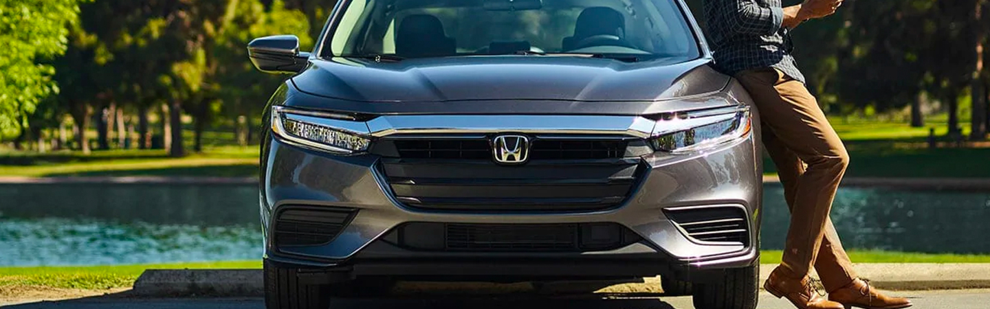 Close up of the 2021 Honda Insight in motion