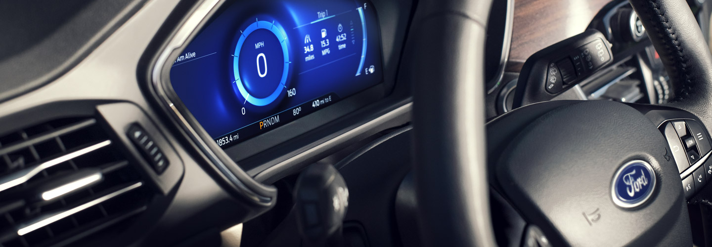 Drivers side perspective inside the 2020 Ford Escape