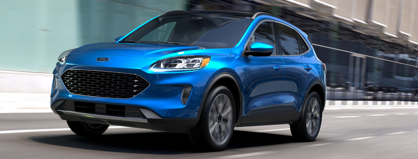 Front of the 2020 Ford Escape in motion