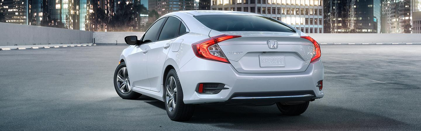 Rear profile view of the Honda Civic