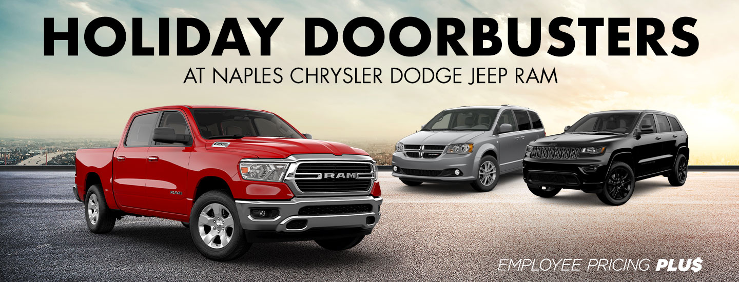 Holiday Doorbusters at Naples Chrysler Dodge Jeep RAM