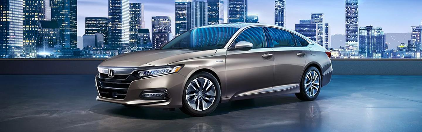 Side view of the 2020 Honda Accord parked outside