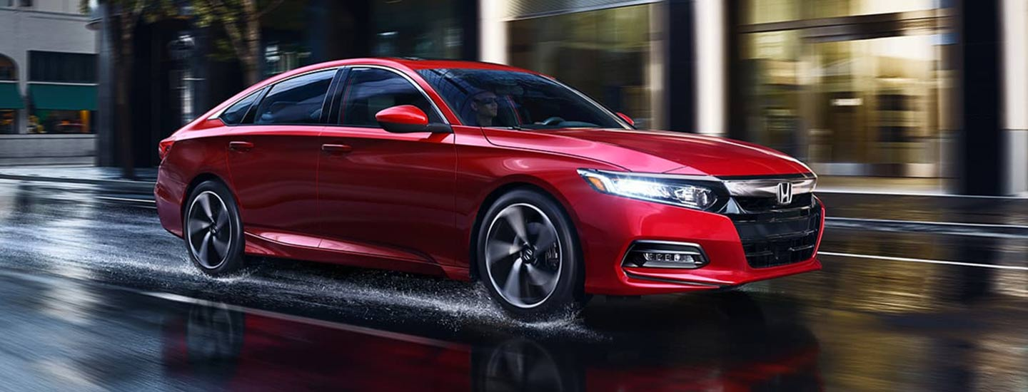 Side view of the 2020 Honda Accord in motion