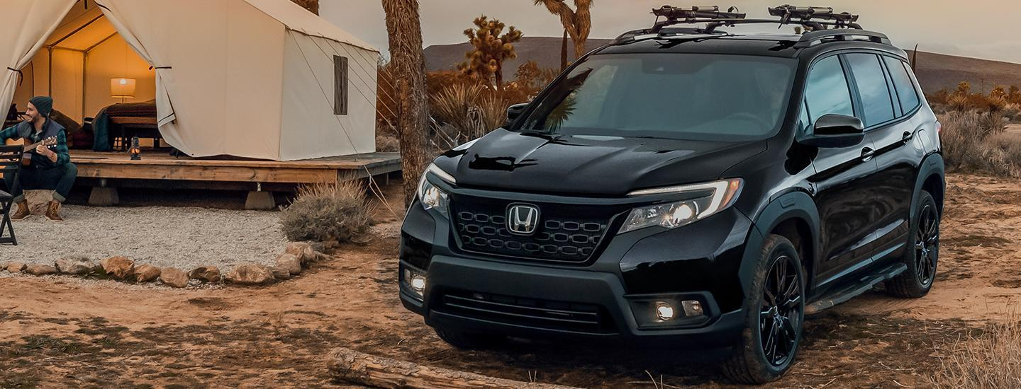 Overview of the 2021 Honda Passport parked