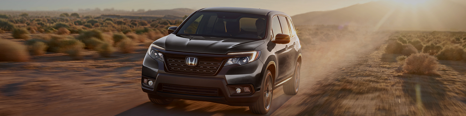 Side view of a 2021 Honda Passport In motion