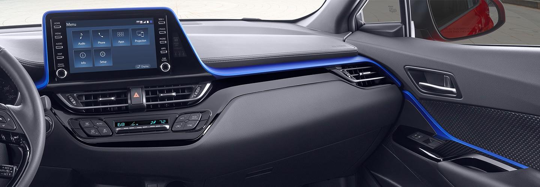 Interior of the 2020 Toyota C-HR
