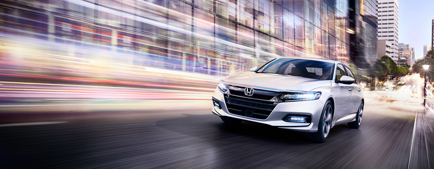 2019 Honda Accord front view in motion.