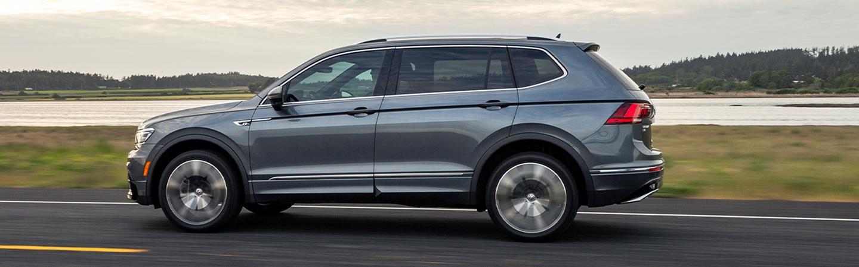 Gray 2020 Volkswagen Tiguan Driving - Next to water