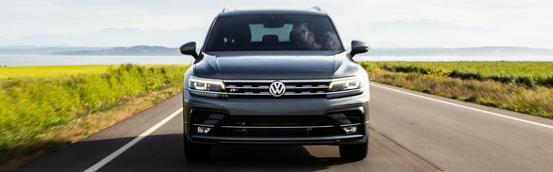 Gray 2020 Volkswagen Tiguan Driving - Front End