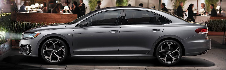 Gray 2020 Volkswagen Passat Parked - Side