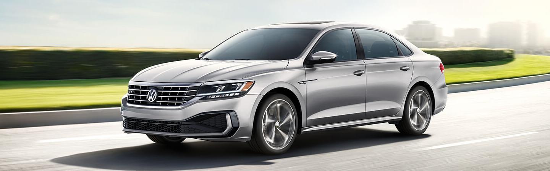 Silver 2020 Volkswagen Passat Driving - Side