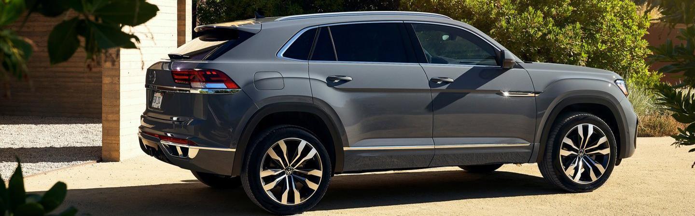 Gray 2020 Volkswagen Atlas Cross Sport Exterior - Side