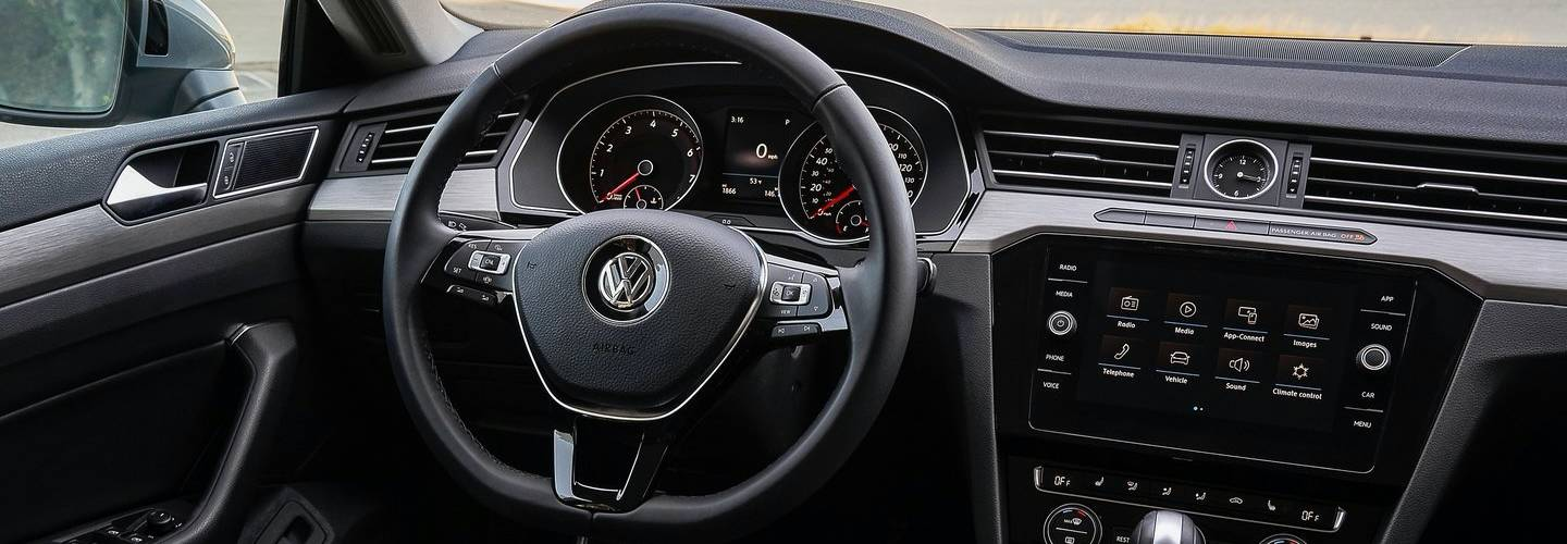 Drivers side perspective and steering wheel of the 2019 Volkswagen Arteon