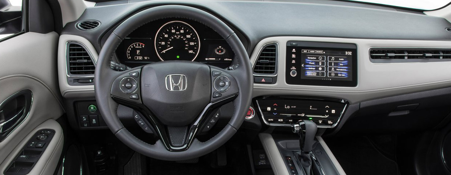 Safety features and interior of the 2019 Honda HR-V - available at our Honda dealership near Jacksonville, FL.