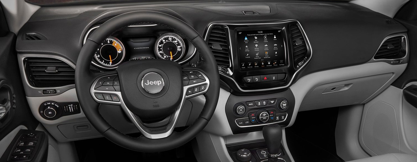Safety features and interior of the 2019 Jeep Cherokee - available at our Jeep dealership near Bonita Springs, FL.