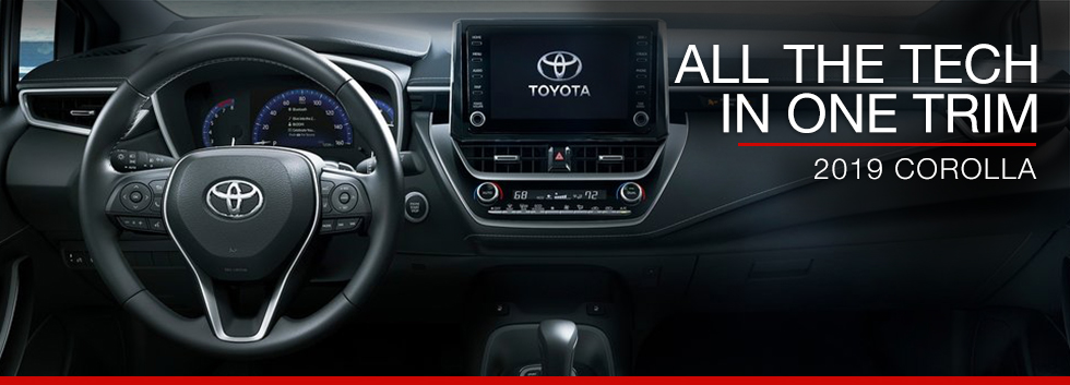 Safety features and interior of the 2019 Toyota Corolla - available at Toyota of Tampa Bay near Brandon and Wesley Chapel, FL