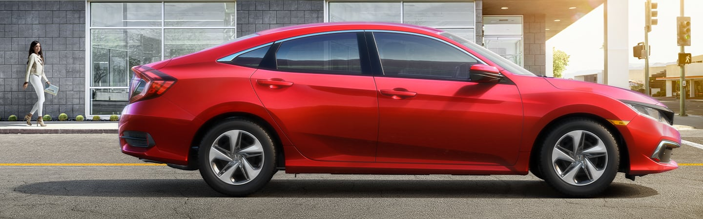 Side view of the 2020 Honda Civic parked