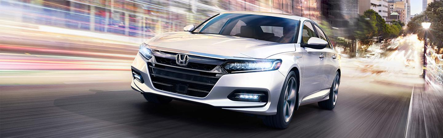 Silver 2020 Honda Accord Driving