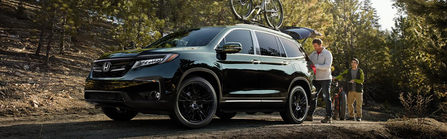 Black 2020 Honda Pilot parked