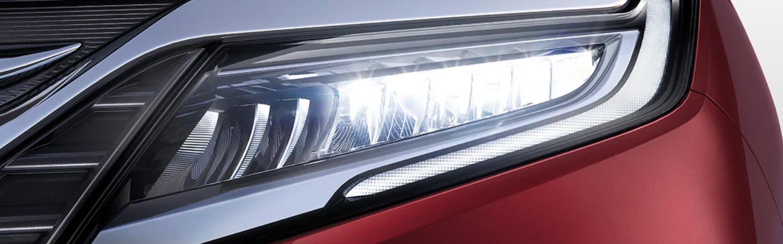 Red 2020 Honda Odyssey Headlight