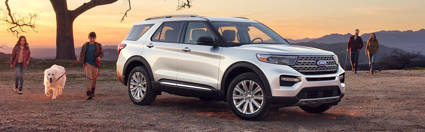 Side view of the 2020 Ford Explorer parked outside