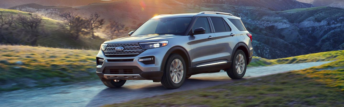 The 2020 Ford Explorer available at Coccia Ford parked outside