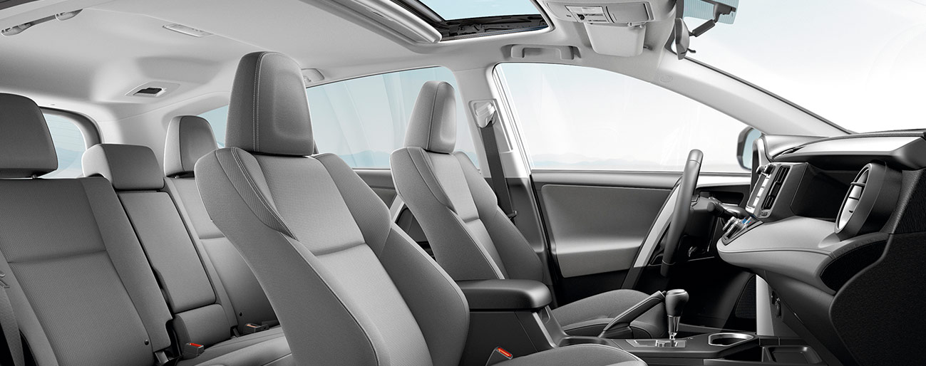 Safety features and interior of the 2018 Toyota RAV4 - available at our Toyota dealership near Tampa, FL.