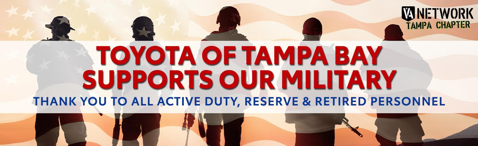 Toyota Of Tampa Bay Supports our military
