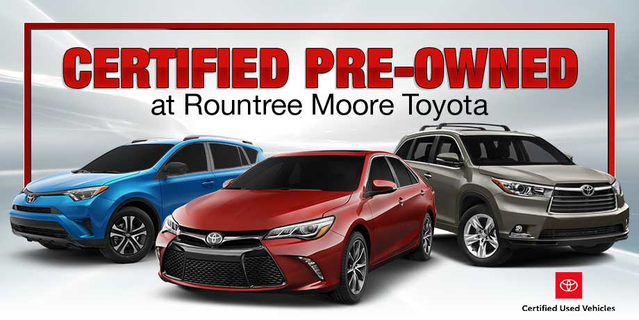Toyota Certified Pre-Owned >> Certified Pre Owned Inventory At Rountree Moore Toyota In