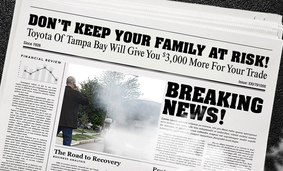 Newspaper Breaking News! Don't Keep Your Family At Risk