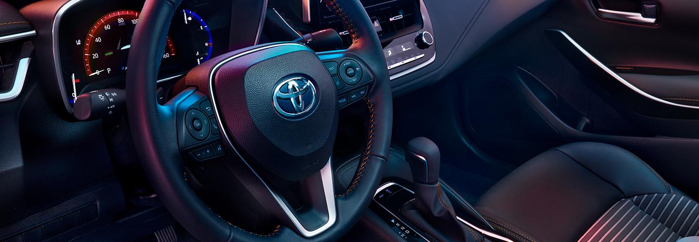 Interior of the 2021 Toyota Corolla