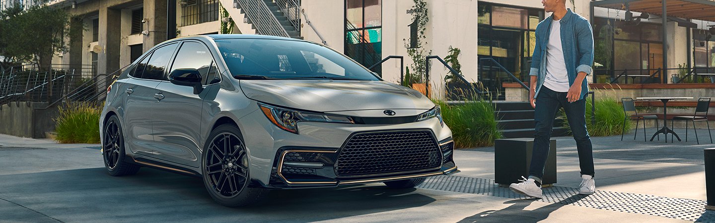 2021 Toyota Corolla parked in a driveway