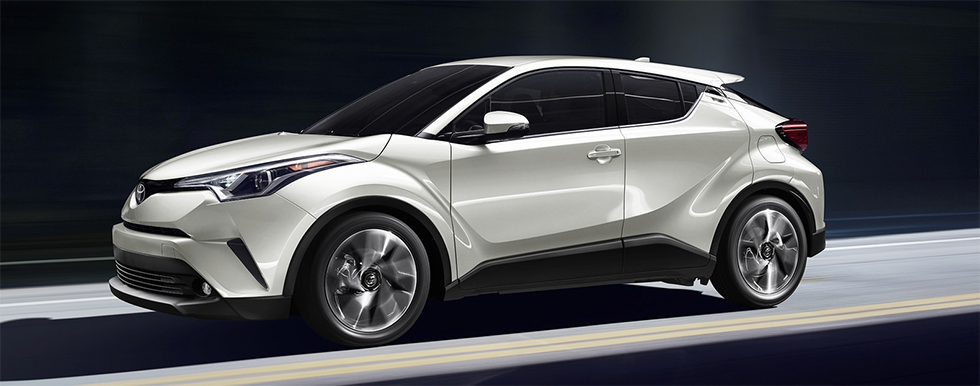 Exterior of the 2019 Toyota C-HR - available at our Toyota dealership in Tampa Bay