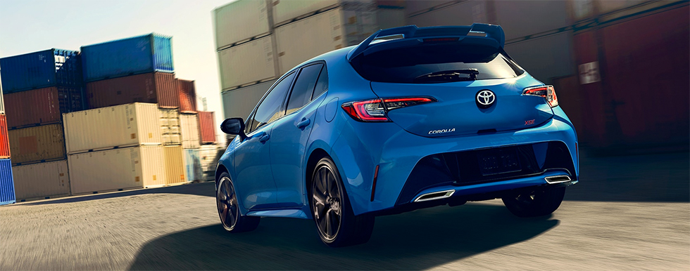 Exterior of the 2019 Corolla Hatchback – for sale at our Toyota dealership in Tampa Bay