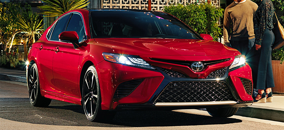 The 2019 Toyota Camry is available at our Toyota dealership in Tampa Bay