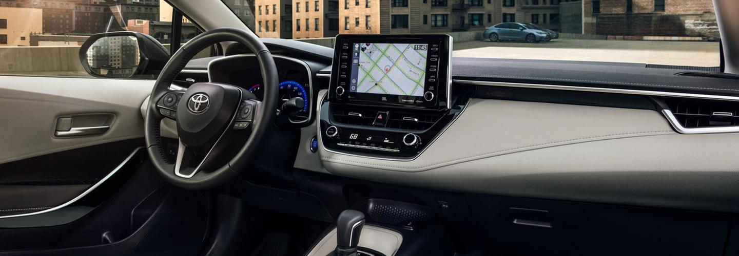 Interior image of the 2020 Toyota Corolla