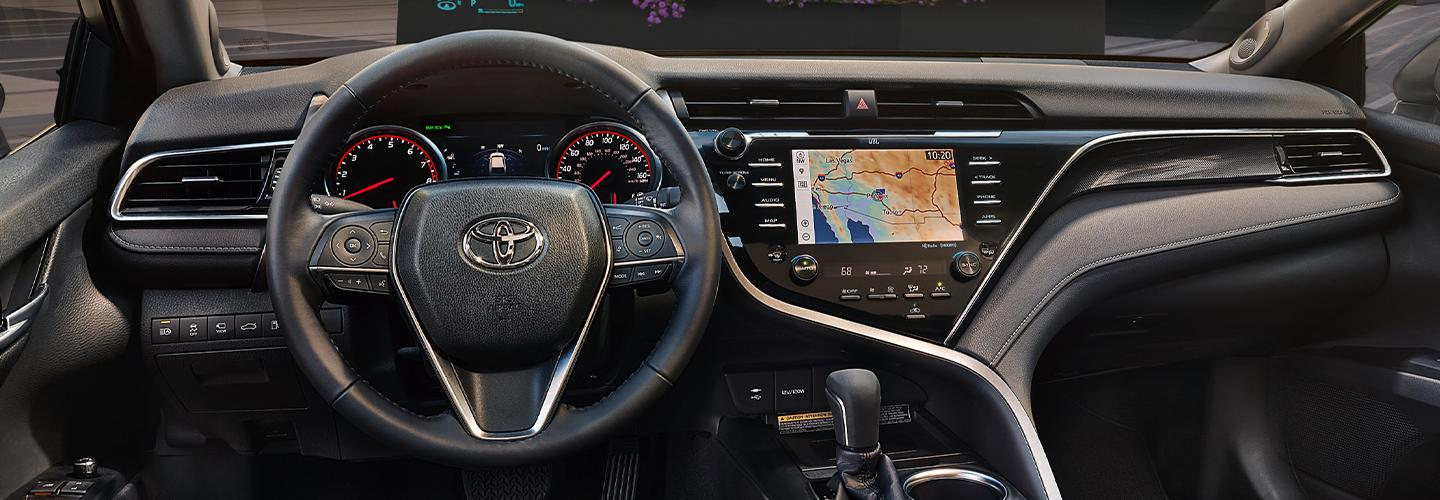 Picture of the interior of the 2020 Toyota Camry